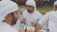 Sheikh Hamdan tries golden burger at Eat the World