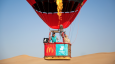 McDonald's UAE and Deliveroo complete hot air balloon delivery