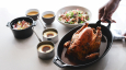 Roasted chicken by Michelin-starred chef Marcel Ravin