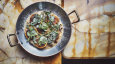 Philip Chronopoulos reveals how to make ravioli with herbs, chestnuts and feta