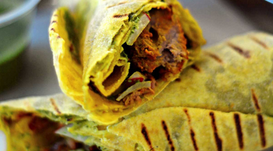 Dish 360: Marinated lamb shoulder in roti