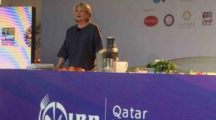 Martha Stewart calls for healthier eating in Qatar