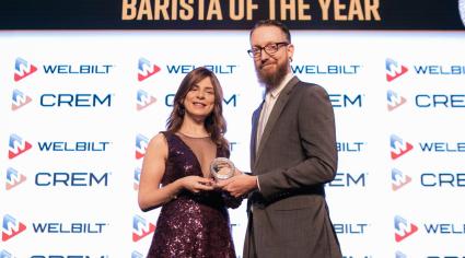 Jamie Elfman brews up a win at Caterer Middle East Awards