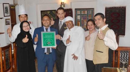 Emirati-Lebanese restaurant receives TripAdvisor certificate