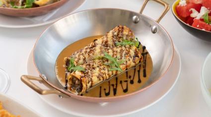 How to: Cannelloni de canard confit, champignons, sauce foie gras et truffle, vieux balsamic