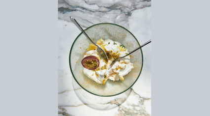 How to: Tashas pineapple and passionfruit Eton mess