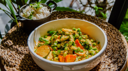 Sri Lankan vegan curry from One Life Kitchen & Cafe's Kelvin Kelly
