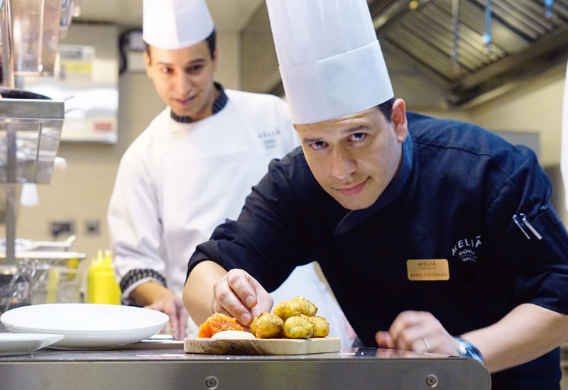 SUPPLIERS: Comec is the distributor, and the hotel also works with Rationali ovens and Modular Kitchens.