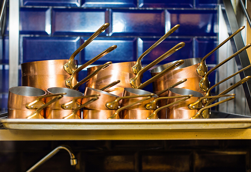 Heavy metal: Copper Saute pans from Mauviel.