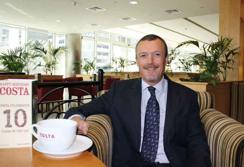 Costa Coffee's Eric Hughes: confident about the brand's expansion in 2010.