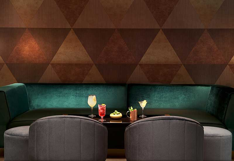 The lounge at Galvin Dubai has a sumptuous yet casual vibe.