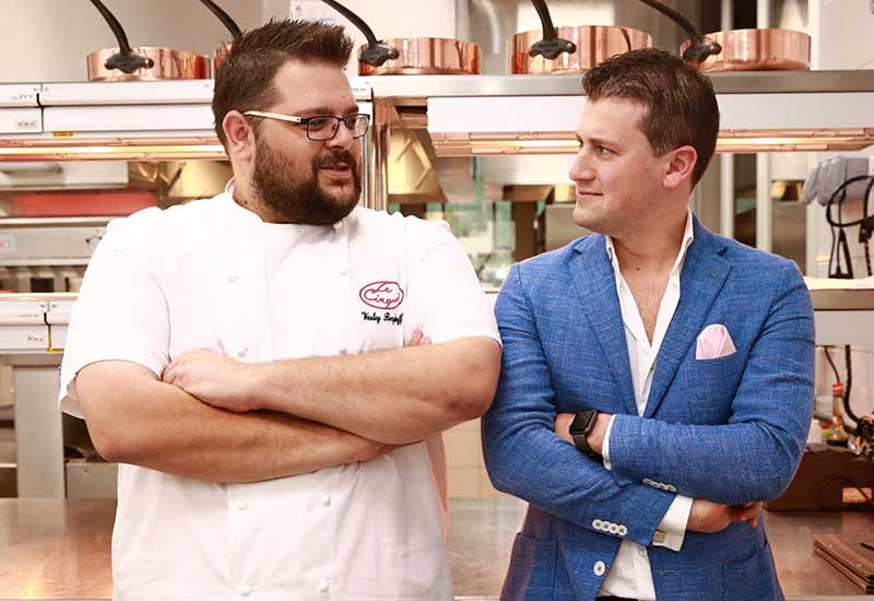 L-R: Head chef, Wesley Berghoff Tyron and Operations manager, Francesco Carbone