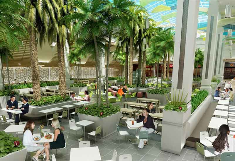 An impression of Mirdif City Centre's food court.