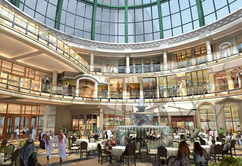 A CGI of the new dining area, set to feature six restaurants.