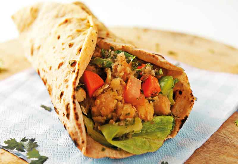 Moti Roti offers healthy options.