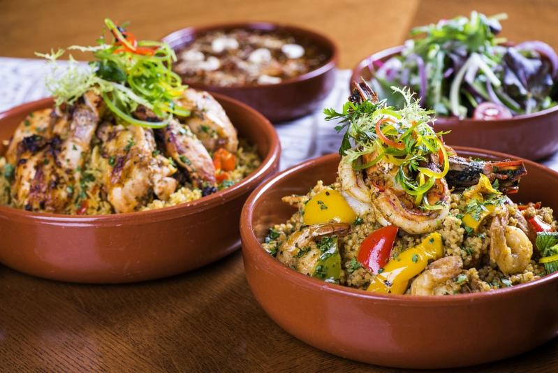 Shrimp jerish is a signature traditional Qatari dish at Sharq Village & Spa, a Ritz-Carlton Hotel.