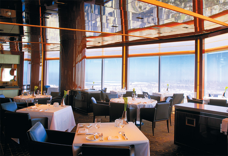 At.mosphere is located on the 122nd floor of the Burj Khalifa