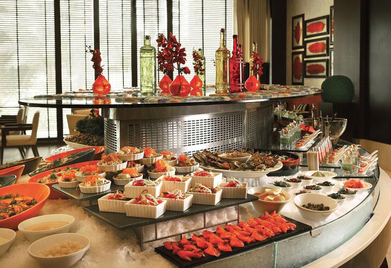 Choices restaurant buffet at Al Bustan Rotana Dubai.