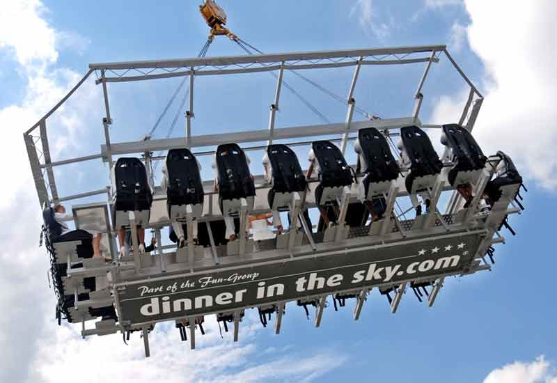 The concept will appeal to diners with a head for heights.