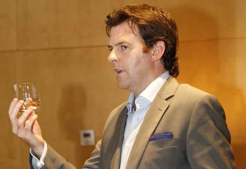 The Edrington Group's Keith Bonnington introduces guests to The Macallan during a tasting at Dubai Marina Yacht Club.