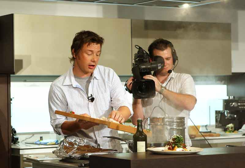 Jamie Oliver cooks up a storm in Dubai.