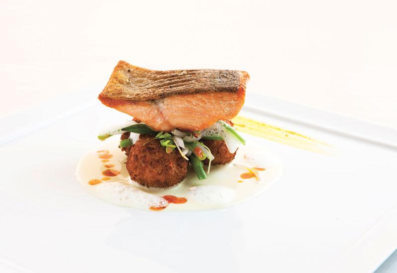 Salmon dish from Pierchic.