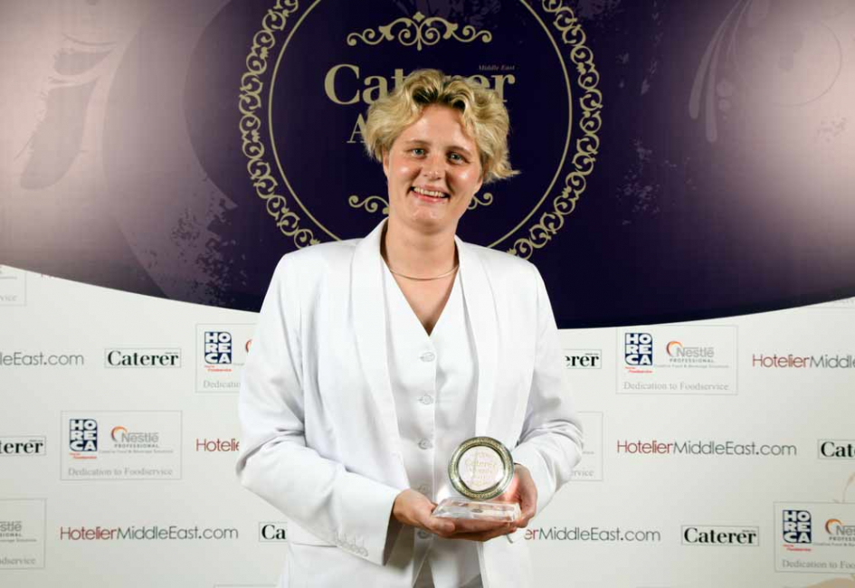 Colleague Christiane Trilck collected the award on Hoyle's behalf