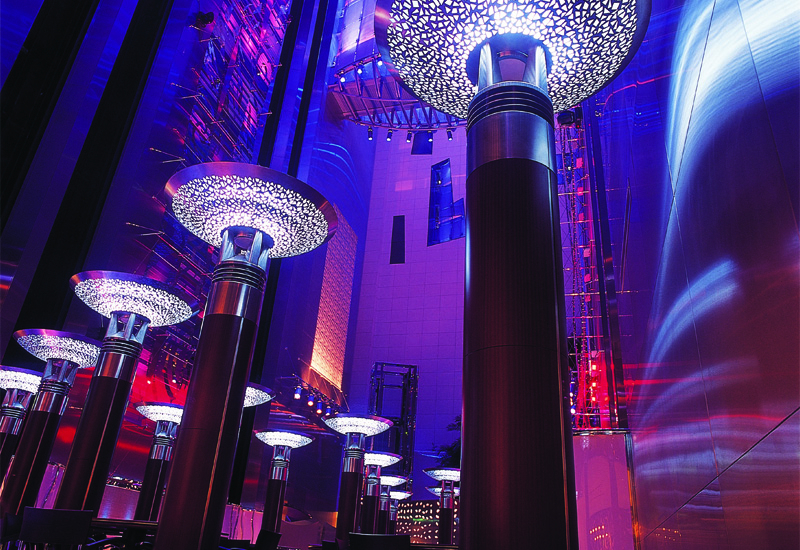 Cascades restaurant at the Fairmont Dubai.