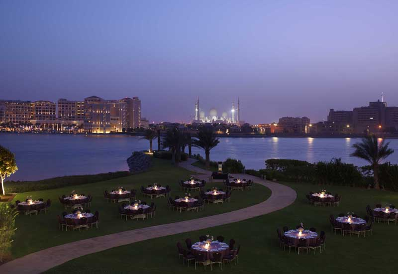 The Falcon Lawn at Fairmont Bab Al Bahr.