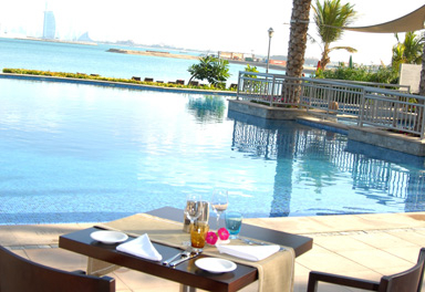 Al Shalal Beach Club's Gusto outlet has a wide range of culinary influences.