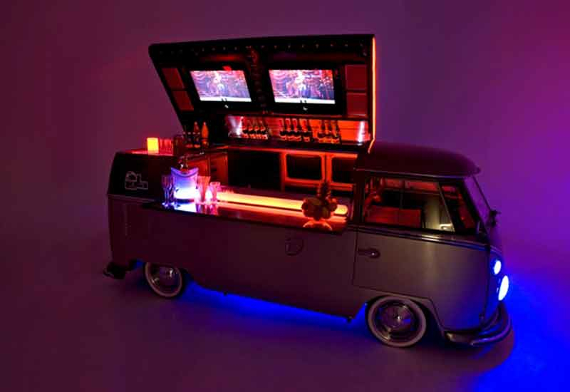 Lola: the converted VW camper van turned into a mobile bar and DJ booth by Desert River.