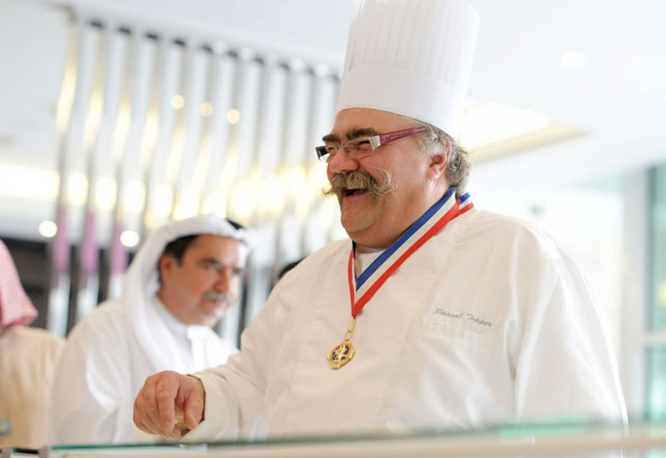 Pascal Tepper visits the Pascal Tepper French Bakery in Dubai's Media City.
