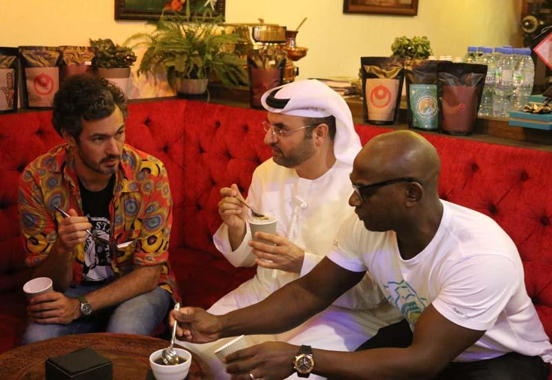 Judges Matt Wade, Khalid Al Mulla and Garfield Kerr
