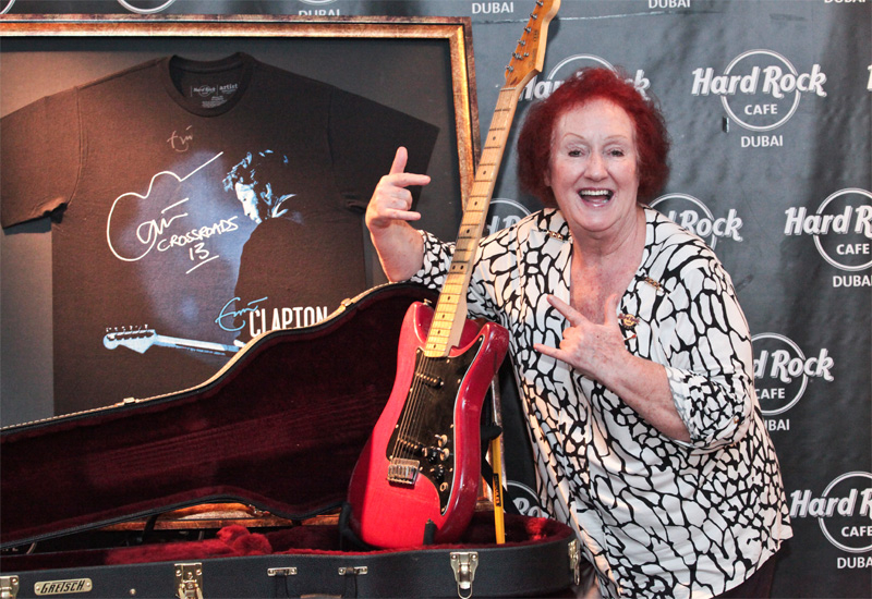 Rita Gilligan is the oldest serving employee at Hard Rock Cafe