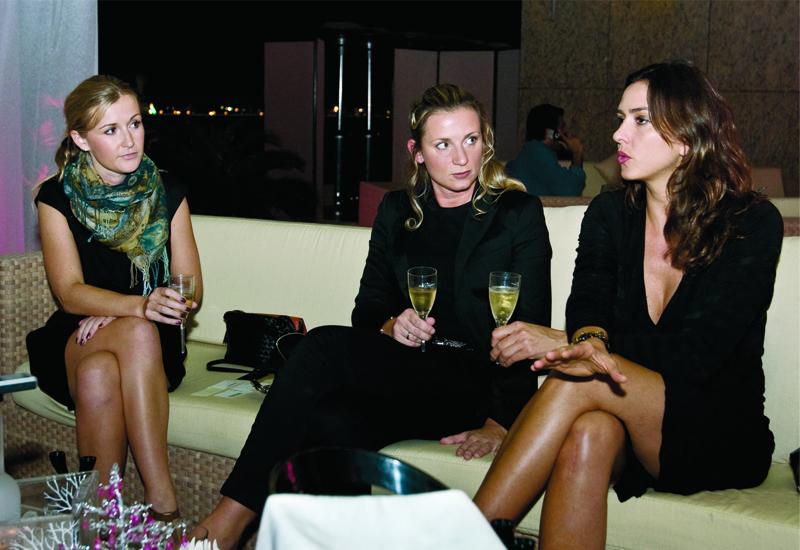 [L-R]  Becky Craig, Christina Bowen and Cristina Piereck discuss cocktail trends.