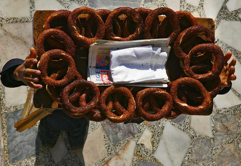 Simit is widely consumed in Turkey [Photo: AFP/Getty Images].