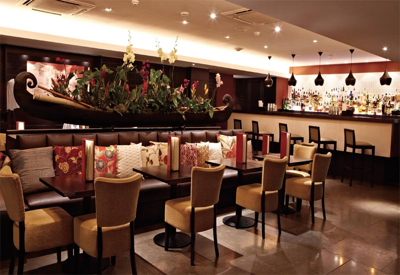 The bar at Benares, London. Kochhar?s Dubai fine-dining restaurant will be based on a similar concept.