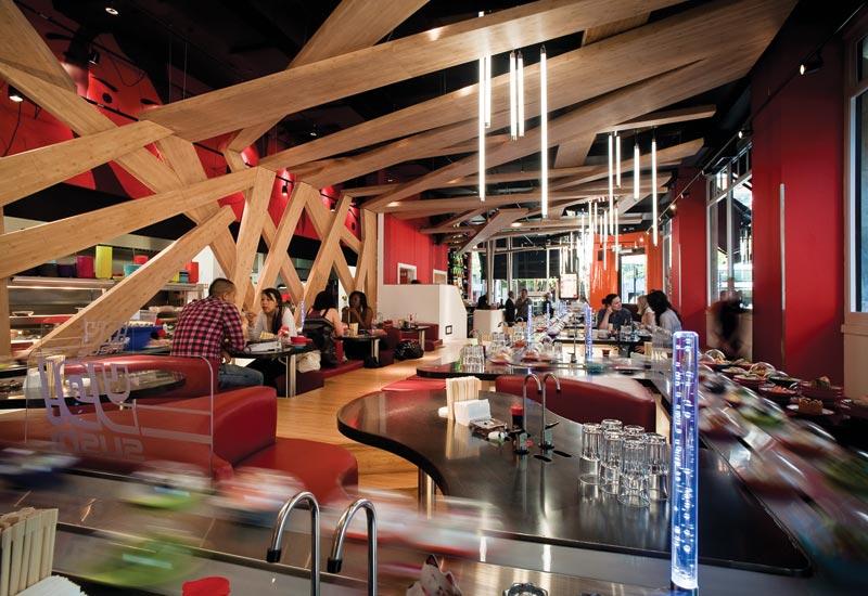 Lackey praises Yo! Sushi, a British restaurant chain that is making its mark on the global scene.