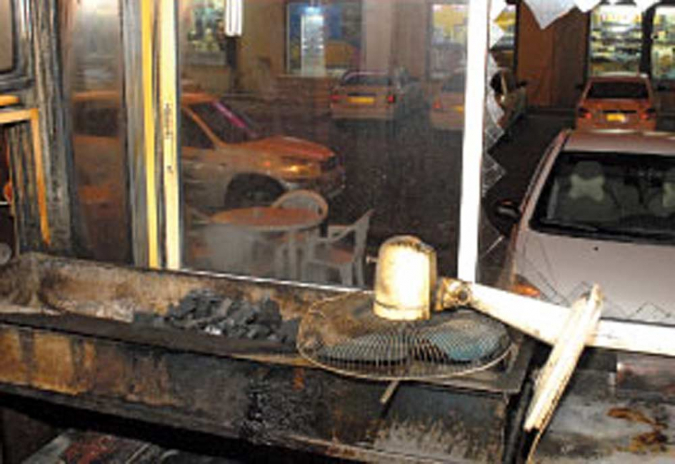 The burnt restaurant, located opposite Ruwi Plaza. Picture copyright: Times of Oman