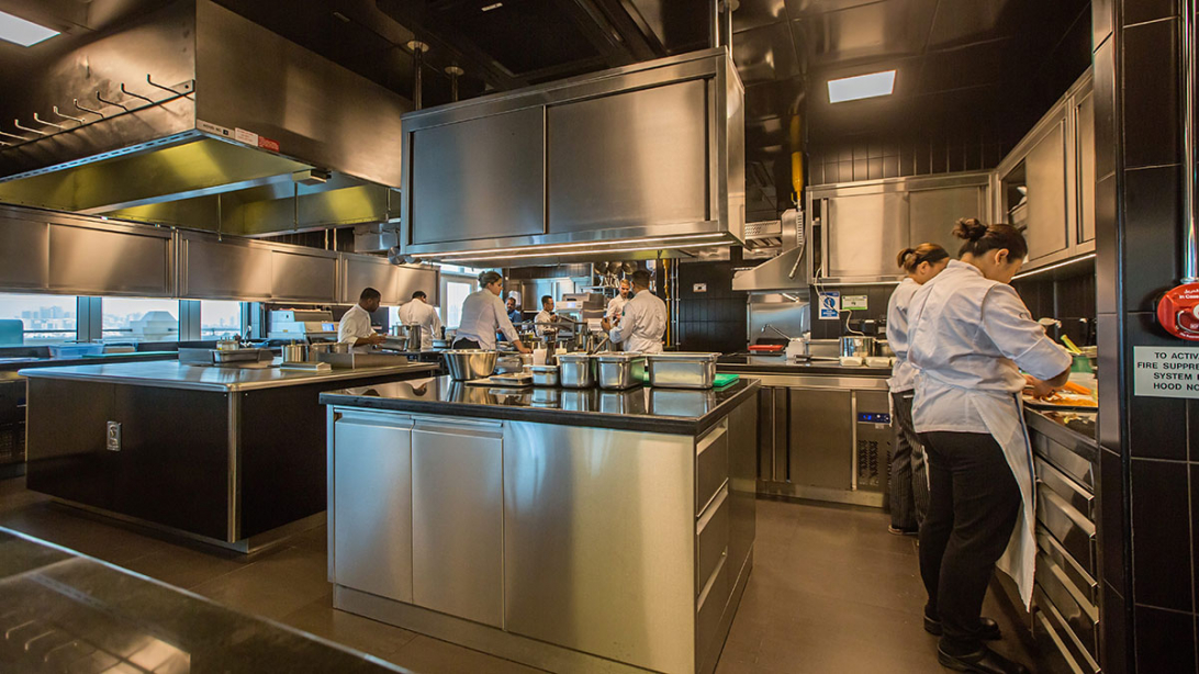 Spacious: A large kitchen means the chefs have plenty of room to manoeuvre.