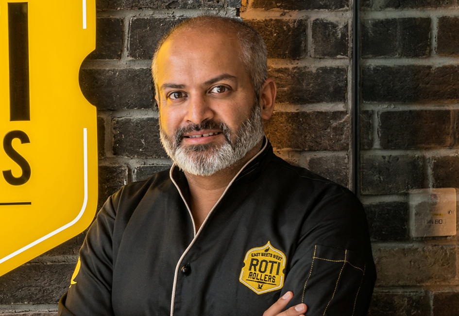 Ahsan Kahlon, founder and owner of Roti Rollers