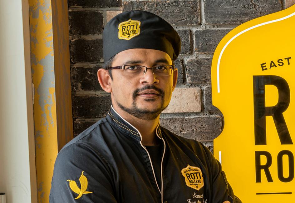 Sameer, head chef at Roti Rollers