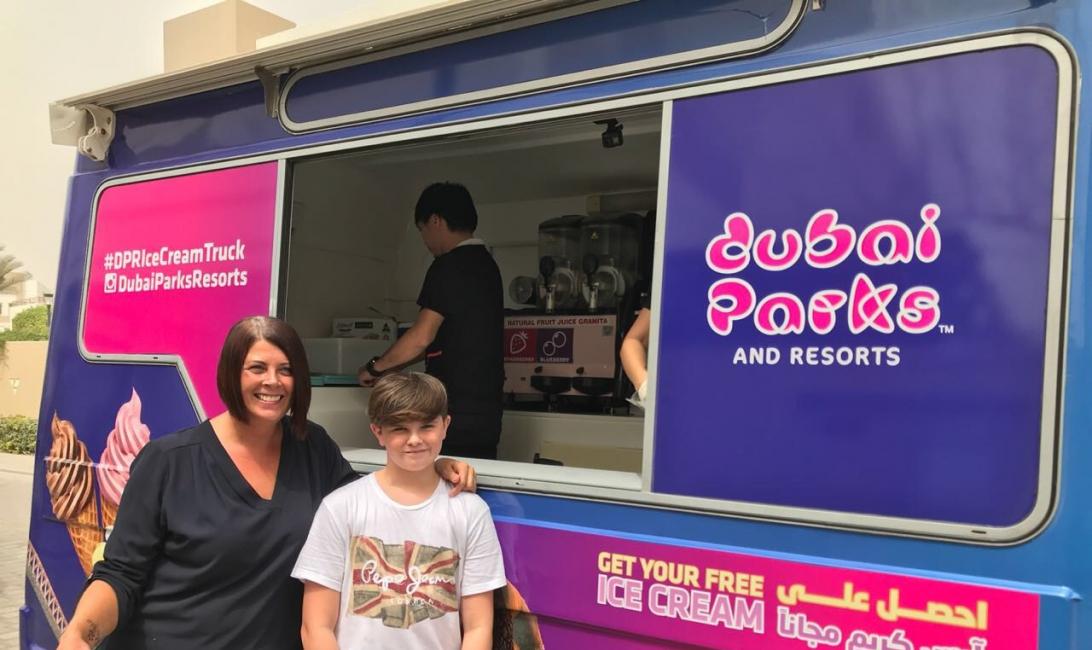 Ice cream, Dubai Parks & Resorts, Dubai Parks and Resorts