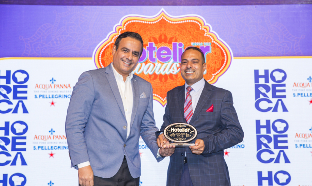 Firas Hasanat Mvenpick Resort Petra   FB Manager of the Year    The Hotelier Middle East Awards 2018   Le Mridien Dubai Hotel  Conference Centre    Dubai   photo by Ajith Narendra  ITP Images