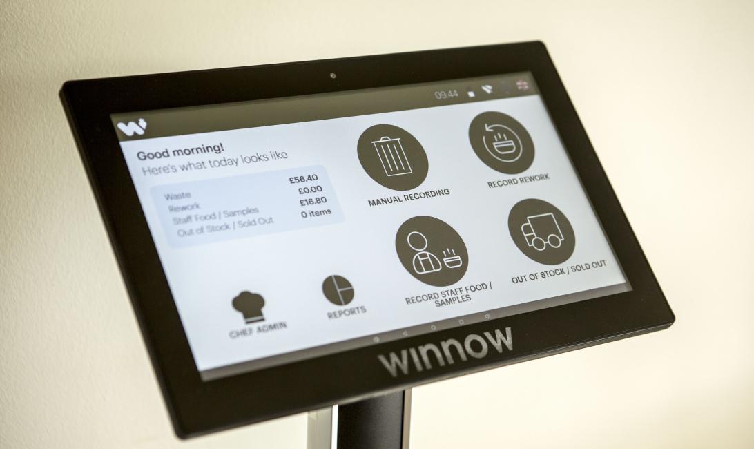 Winnow waste monitor.