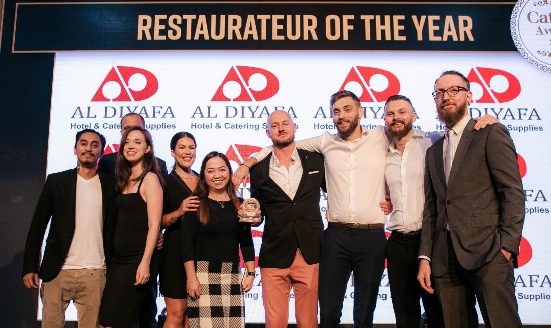 The Bull&Roo team picked up the award on behalf of Tom Arnel