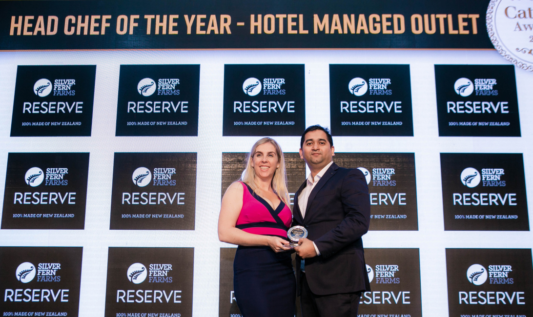 Ninad Salvi, a chef at Little Miss India, picked up the award on behalf of Arif Mohammad from Sile Sweeney, brand manager at Silver Fern Farms.