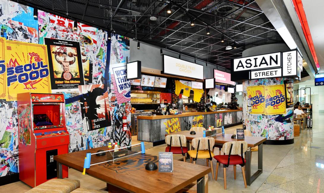 Asian street kitchen, Dubai international, Street food, Airport