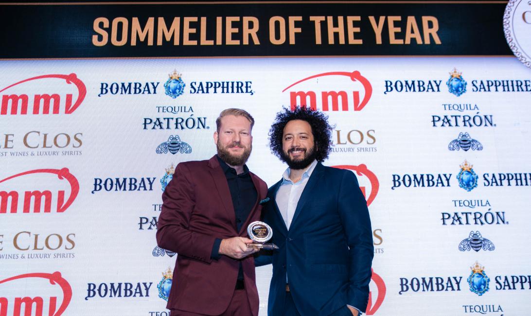 Dean Murphy received the award on behalf of Luca Gagliardi