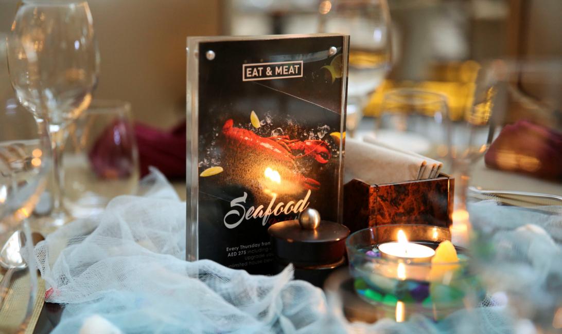 Eat & meat, Grillhouse, The H Dubai, Drunch